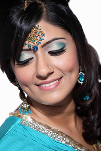 Bold and beautiful Indian wedding makeup for brides and attendants